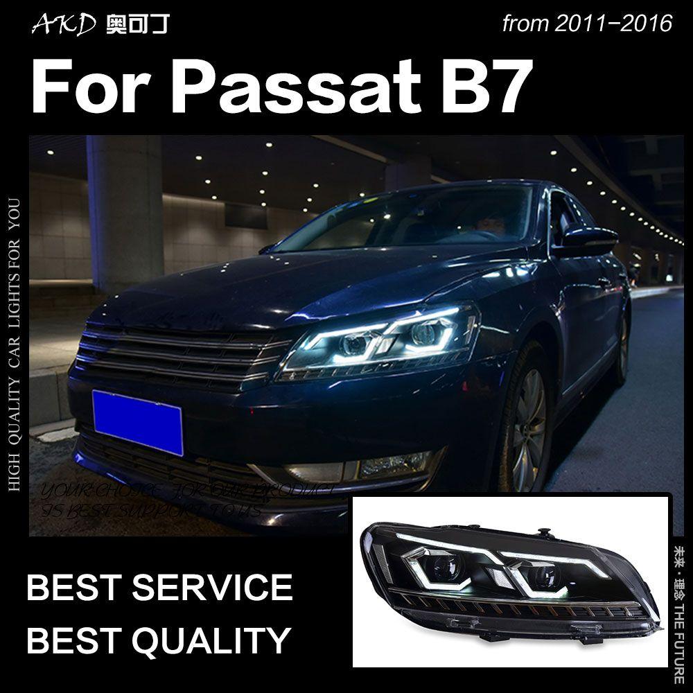 AKD Auto Styling für VW Passat B7 Scheinwerfer 2011-2016 LED Scheinwerfer DRL Hid Kopf Lampe Bi Xenon Projektor objektiv Strahl Zubehör