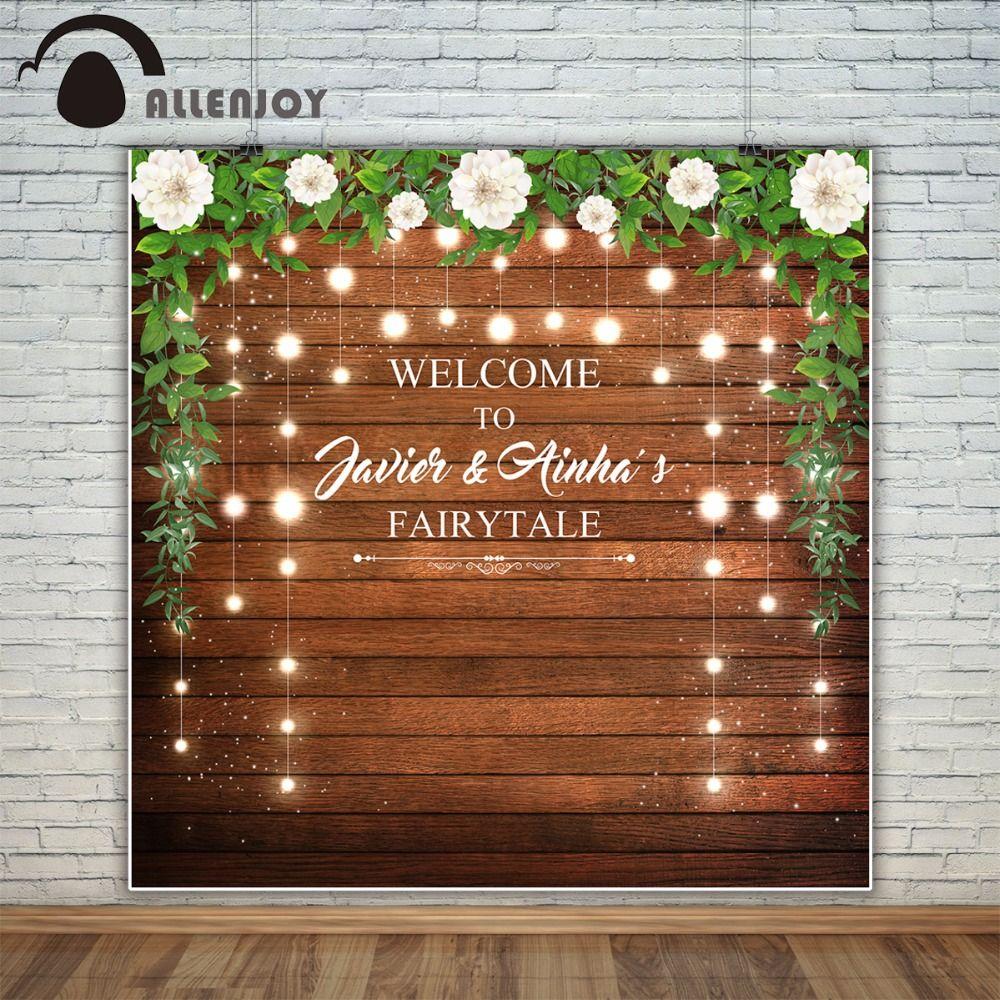 Allenjoy wedding custom photography backdrop photo studio wood party decor celebrate Background photocall photobooth photocall