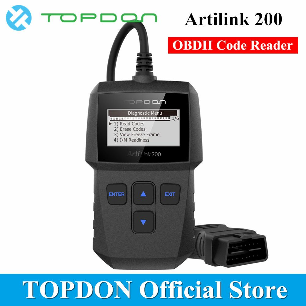 TOPDON ArtiLink 200 Automotive Diagnostic Tool Auto OBDII OBD2 Scanner Mechanic Autoscanner for OBD 2 II Car X431 Creader 3001