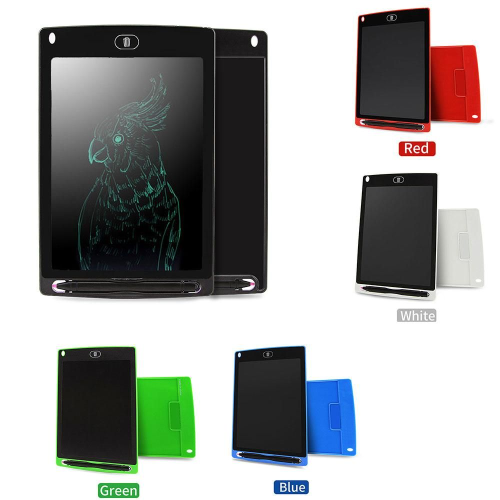 AMZDEAL 8.5 LCD Electronic <font><b>Graffiti</b></font> Tablet Digital Writing Board Drawing Pad Note Board Children's Writing Practice Learning
