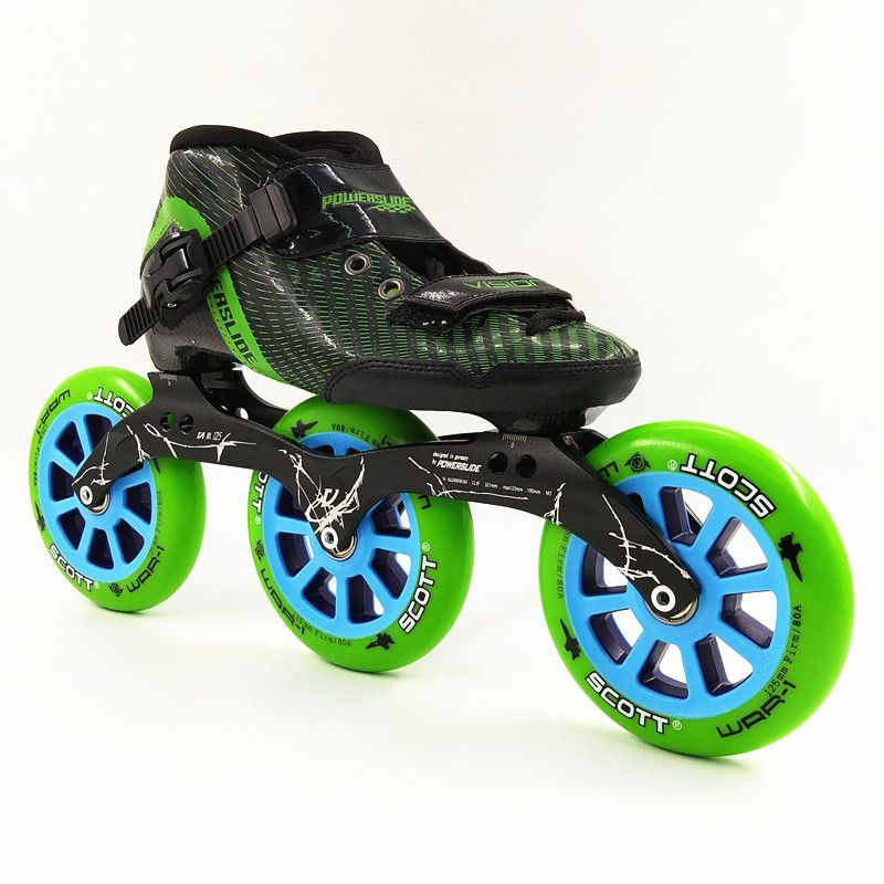 3 big wheels inline skate inline speed skating 125 mm skating frame patins men/women inline speed skates patinaje
