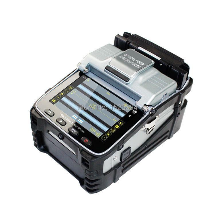 SM & MM Multi-sprache Automatische Sechs Motoren Intelligente FTTH Fiber Optic Setzmaschine Optische Faser Fusion Splicer