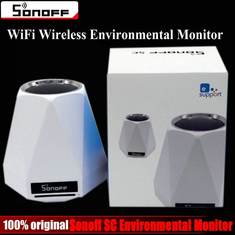 Sonoff SC WiFi Wireless Realtime Indoor Environmental Monitor Station Humidity Temperature Air Quality Light intensity Sensor