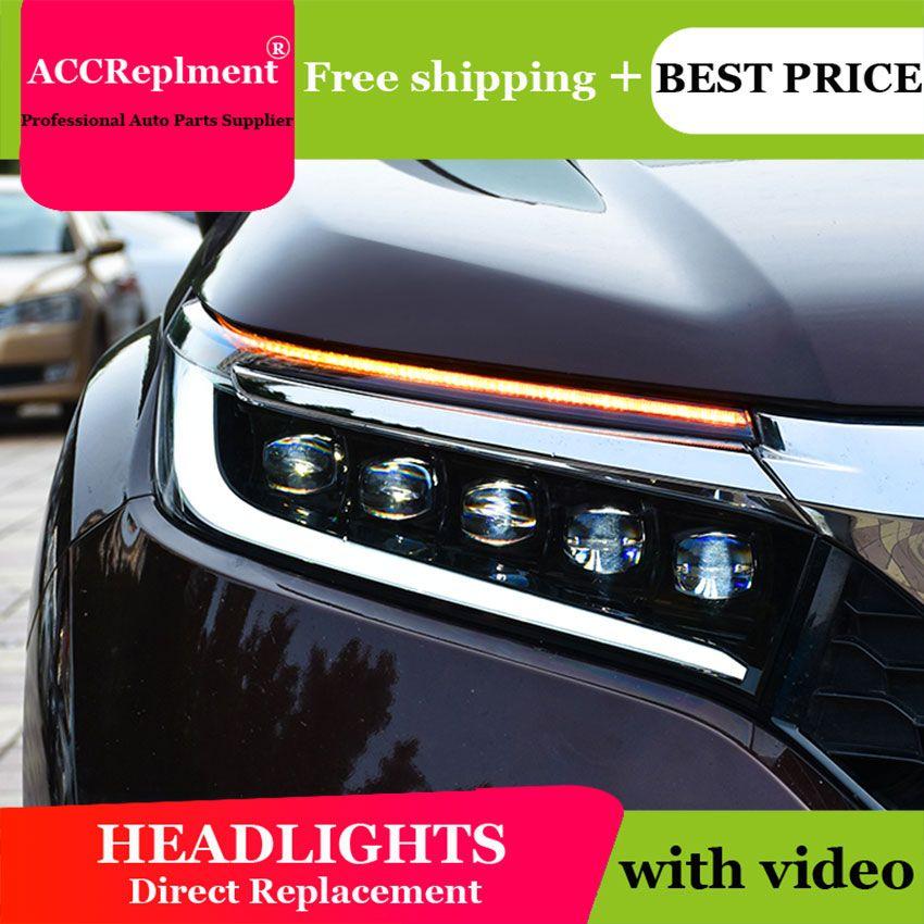 Auto Styling Für Honda accord led scheinwerfer 2018 2019 Led kopf lampe Angel eye led licht nebel lichter Tagfahrlicht lichter
