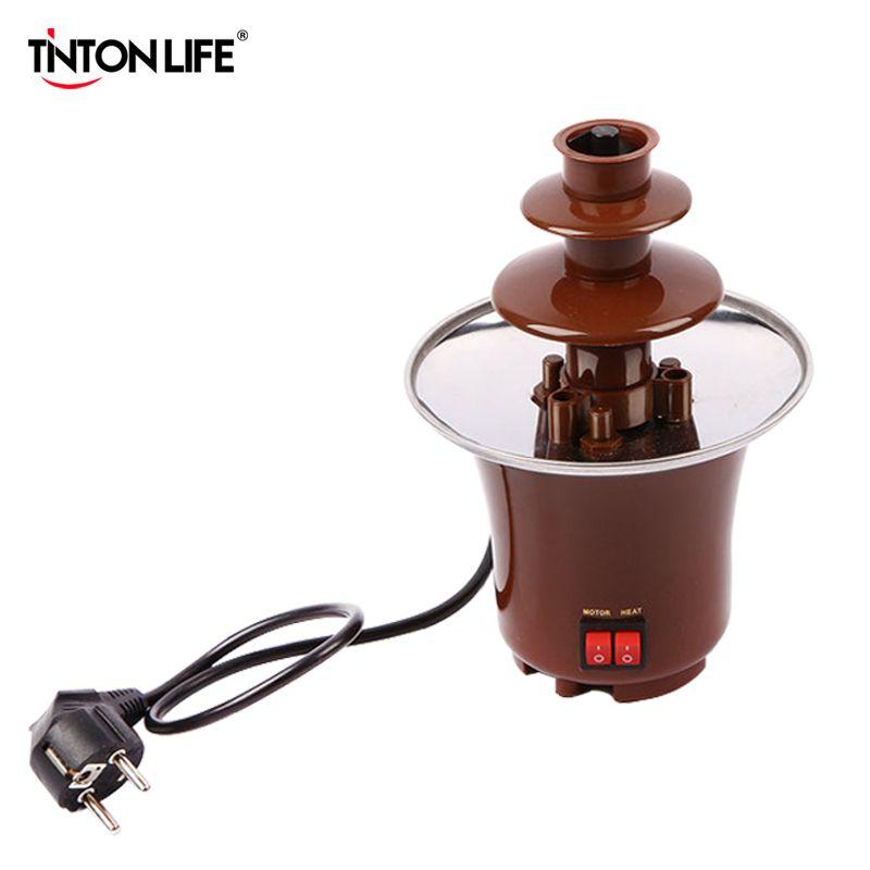 TintonLife Creative Design Mini Chocolate Fountain For Sale Fondue Machine Chocolate Melts With Heating