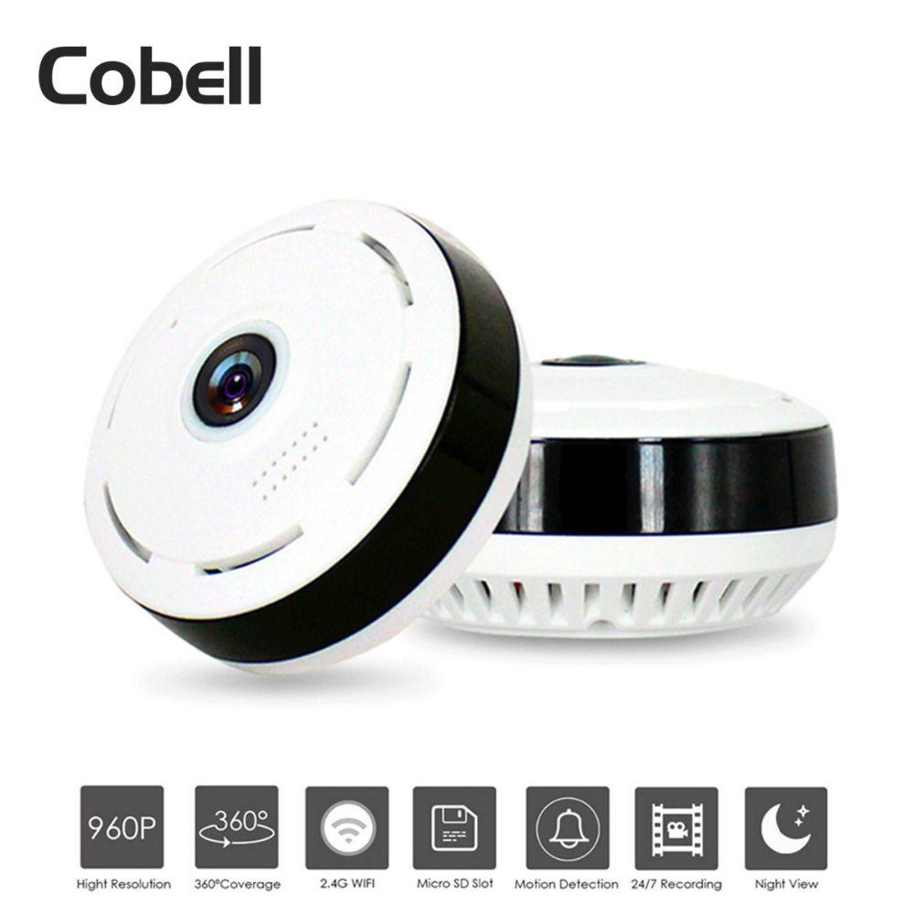 Cobell HD 960 P Wifi IP caméra sécurité à domicile sans fil 360 degrés panoramique caméra de vidéosurveillance Vision nocturne yeux de poisson lentille VR Cam
