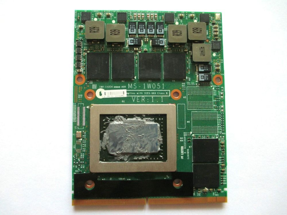 original FOR GT60 GT683 1761 MS-1W051 N12E-GT-A1 GTX 570M GTX570M GDDR5 MXM Graphic Card tested fully free shipping