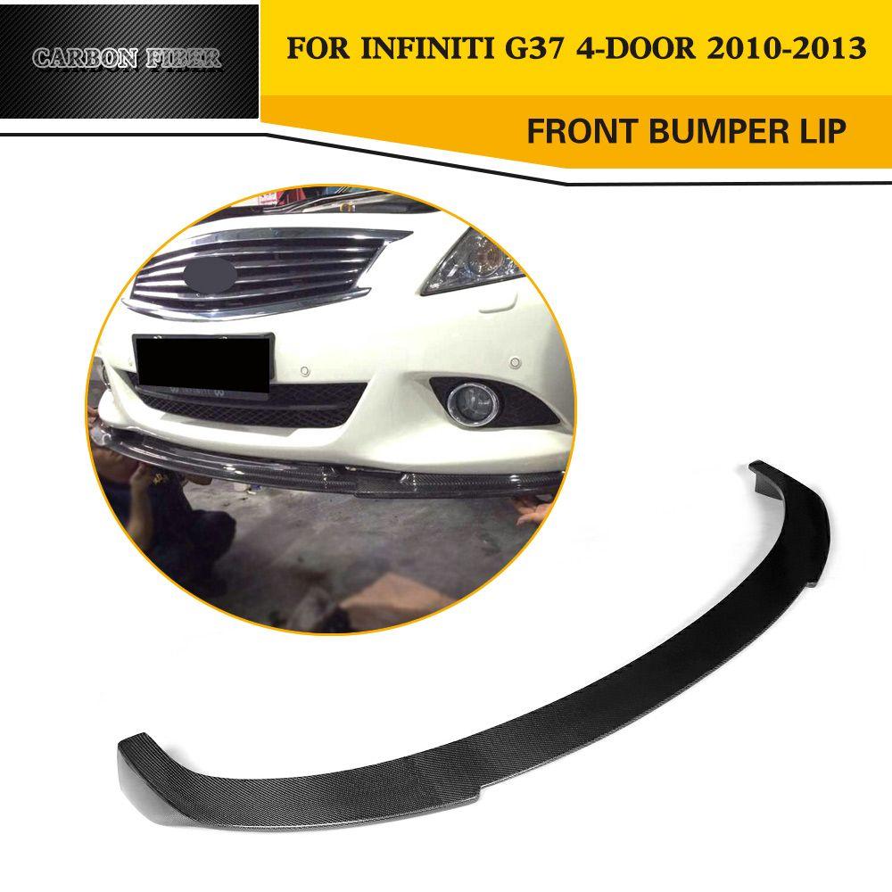 Auto-Styling carbon Vorder Lip Spoiler für Infiniti G37 4 Tür BASIS Limousine REISE Limousine Stoßstange 2010- 2013