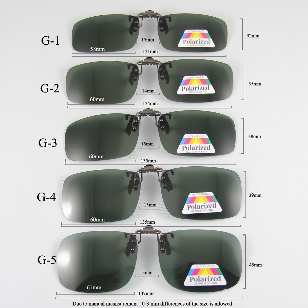 Lunettes de soleil polarisées Clip-on pont peut up Clip sur lunettes de soleil hommes femmes lunettes de soleil lunettes lentille clair conduite lunettes
