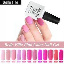 Belle Fille Beige Rose Pêche Rouge Nude UV Gel Vernis À Ongles 10 ml Pas Cher Gel Vernis Vernis a Ongle Gellak UV Résine Nail colle