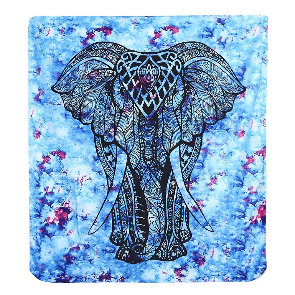 Éléphant indien Tapisserie de Couleur Imprimé Décoratif Mandala Tapisserie Unisexe Serviette De Plage Yoga Tapis Couverture Mur Tapis S/L