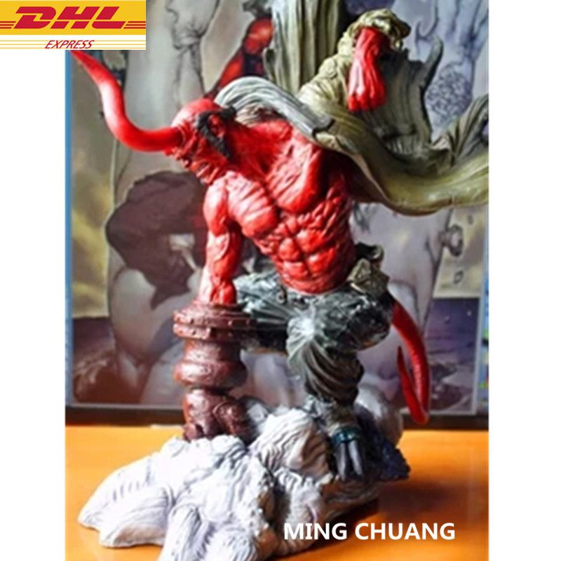 Statue Hellboy Superhero Bust Anung Un Rama Prof Bloom Tutor Full-Length Portrait Resin Action Figure Collectible Model Toy D279