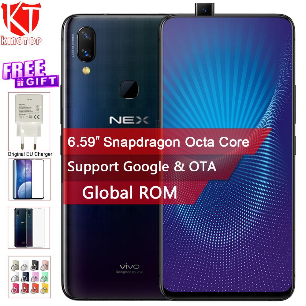 Original Vivo NEX Handy 6 gb/8 gb RAM 128 gb ROM Octa Core 6,59 Fingerprint Entsperren auto-erhöhten Kamera 4000 mah Handy