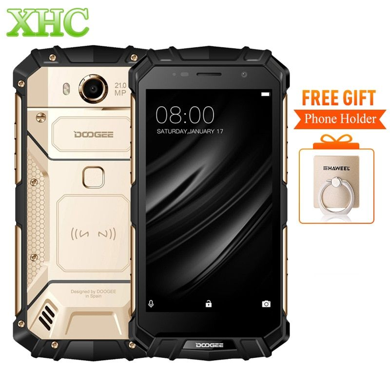 DOOGEE S60 IP68 Smartphone 5580mAh Wireless Charge Helio P25 Octa Core 5.2'' FHD 21MP RAM 6GB ROM 64GB Dual SIM NFC Cellphone
