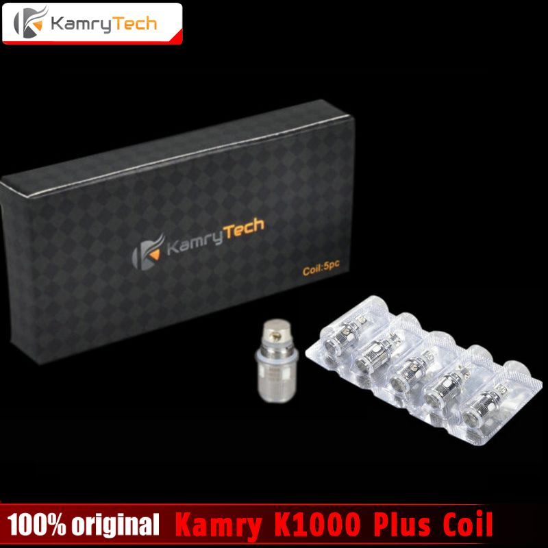 Original Kamry K1000 Plus Coil Replaceable Sub 0.5ohm X6 Plus Coils K1000 Plus Atomizer E Cigarette Vaporizer Coils 5pcs/lot