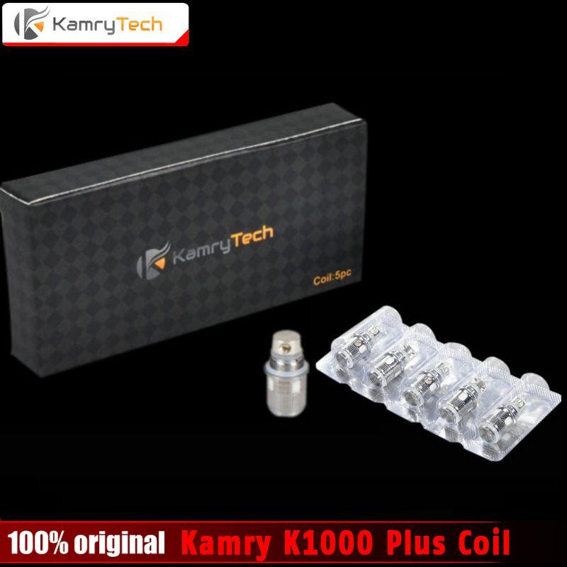 Ursprüngliche Kamry K1000 Plus Spule Austauschbar Unter ohm X6 Plus Spulen K1000 Plus Zerstäuber E Zigarette Verdampfer Spulen 5 teile/los