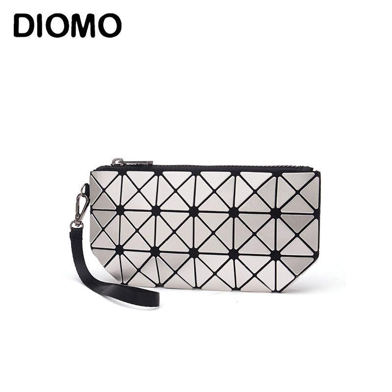 DIOMO 2017 laser hologramm tasche frauen kupplungen mode geometrische plaid handgelenk tasche handtasche make-up tasche