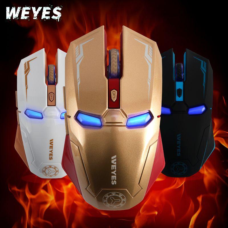 Armure fer homme souris sans fil Inalambrico USB ordinateur PC Gaming Steelseries Laser ergonomique silencieux applaudissements Weyes