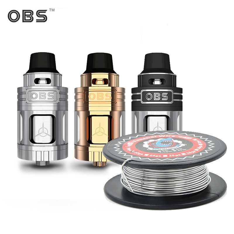 E-Cigarettes OBS Engine Tank Vape Top Side Filling Tank OBS Engine RTA Atomizer Vaporizer Tank 5.2ML fit vaporessor Revenger Kit