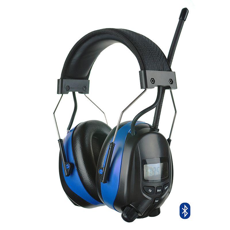Einstellbare Bluetooth Gehörschutz Schießen Gehörschutz mit Digitale AM FM Radio NRR 25dB Elektronische Rauschunterdrückung Kopfhörer