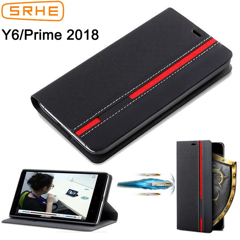 Huawei Y6 2018 Case Cover For Huawei Y6 Prime 2018 Case Flip Leather Silicone Back Cover For Huawei Y6 2018 With Card Holder