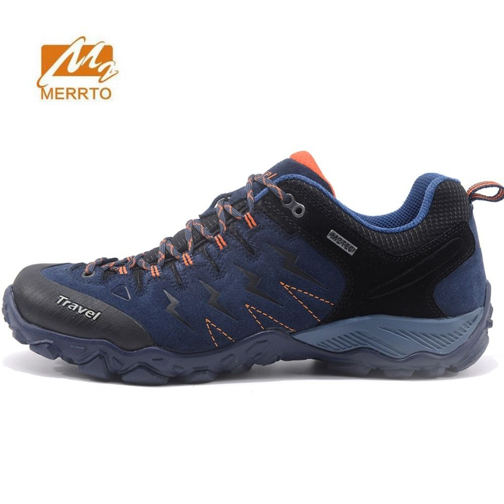 MERRTO Men's Sports Outdoor Footwear Trekking Hiking Sneakers Shoes For Men Leather Climbing Mountain Trail Shoes Sneakers Man