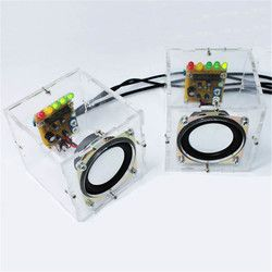 Hot Sale DIY Speaker Accessorries Individuality Mini Speakers Computer Small Transparent Speaker Production Component