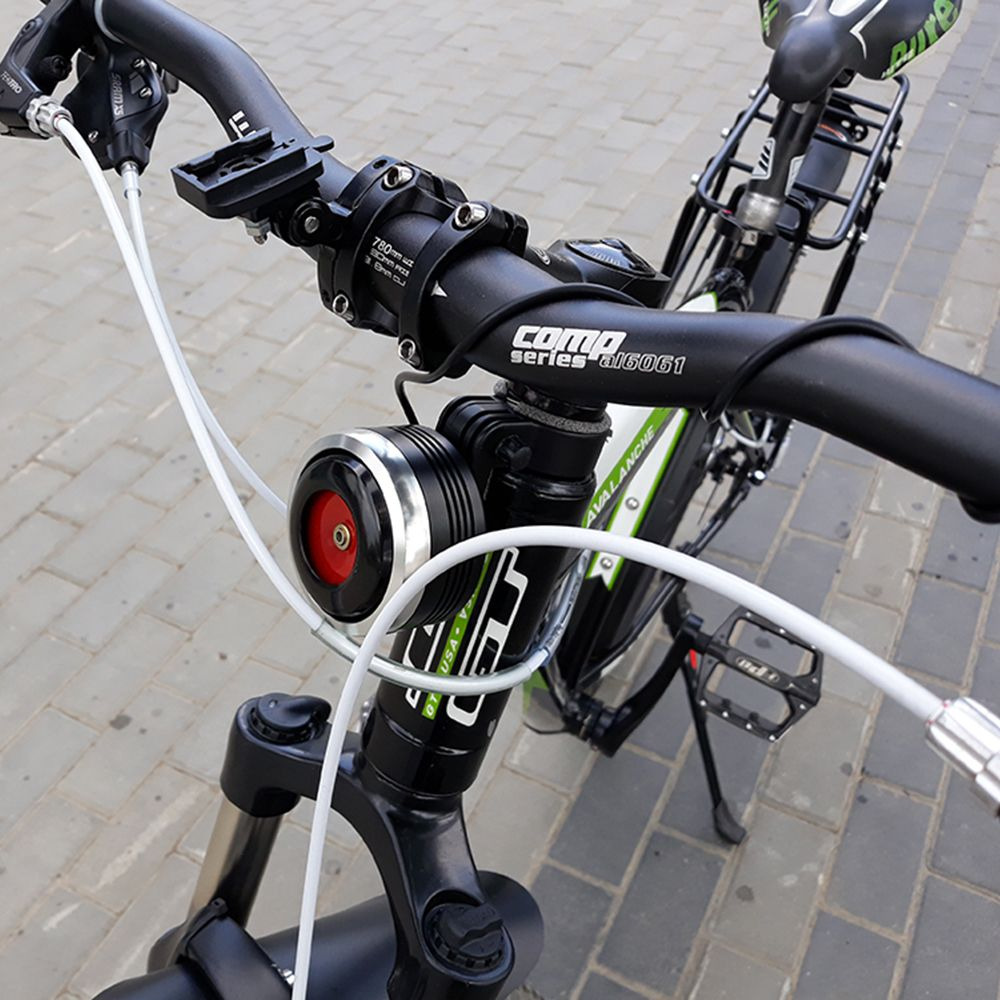 USB Charging Bicycle <font><b>Bell</b></font> Electric Horn With Alarm Loud Sound Horn Ring MTB Road Bike Handlebar Cycling Safety Anti-theft Alarm