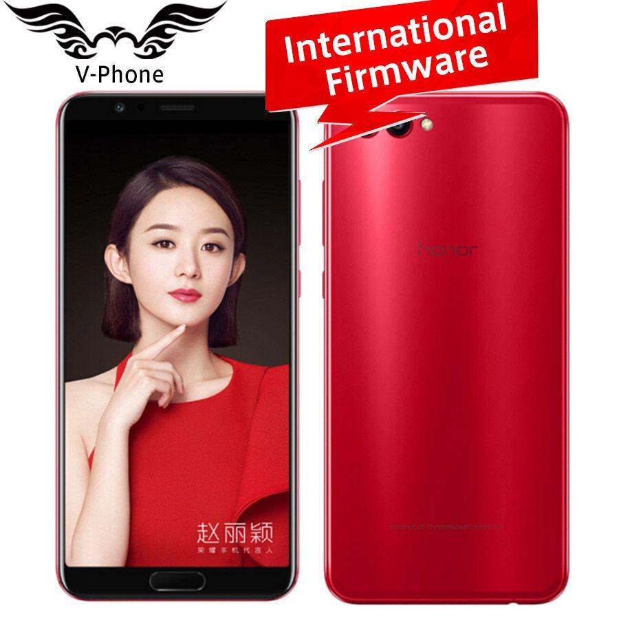 Глобальный Huawei Honor V10 4 г LTE мобильный телефон 5.99 дюймов KIRIN 970 Octa Core 6 ГБ Оперативная память 128 ГБ встроенная память 1080*2160 P Android 8.0 смартфон