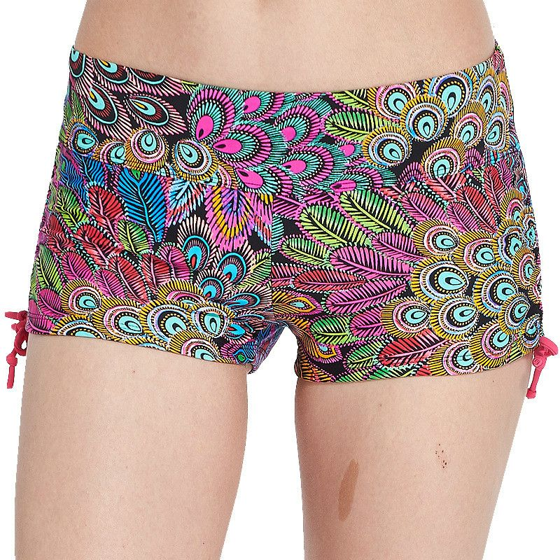 Colorvalue New Printed Side Drawstring Sport Shorts Women Sexy Low Waist Beach Shorts Breathable Leisure Running Shorts 16Colors
