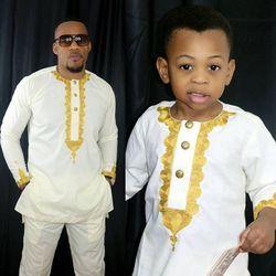 Africain enfants vêtements bazin riche dashiki hommes vêtements africains du sud afrique chemise pantalon deux 2 pièce costumes parents enfants ensemble