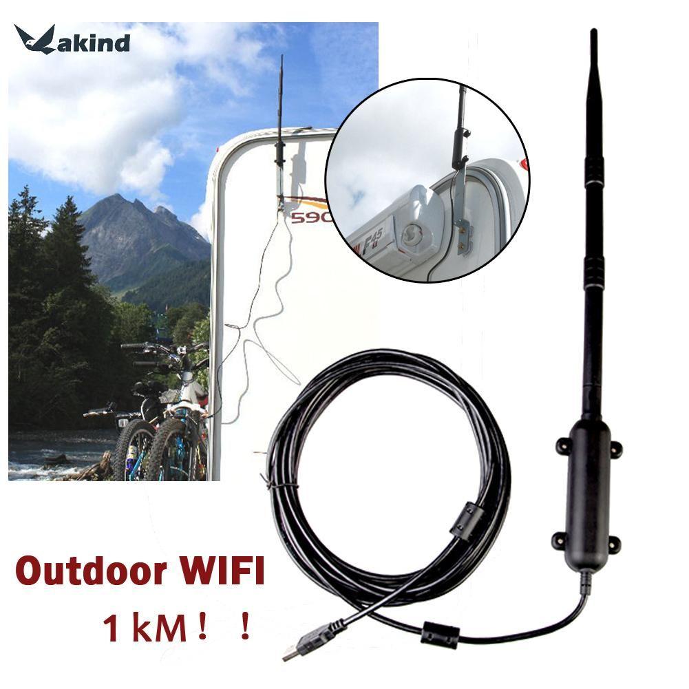 1000M High Power Outdoor WiFi Antenna USB Adapter <font><b>Cellular</b></font> Signal Amplifier Omni-directional Wireless Network Card Receiver