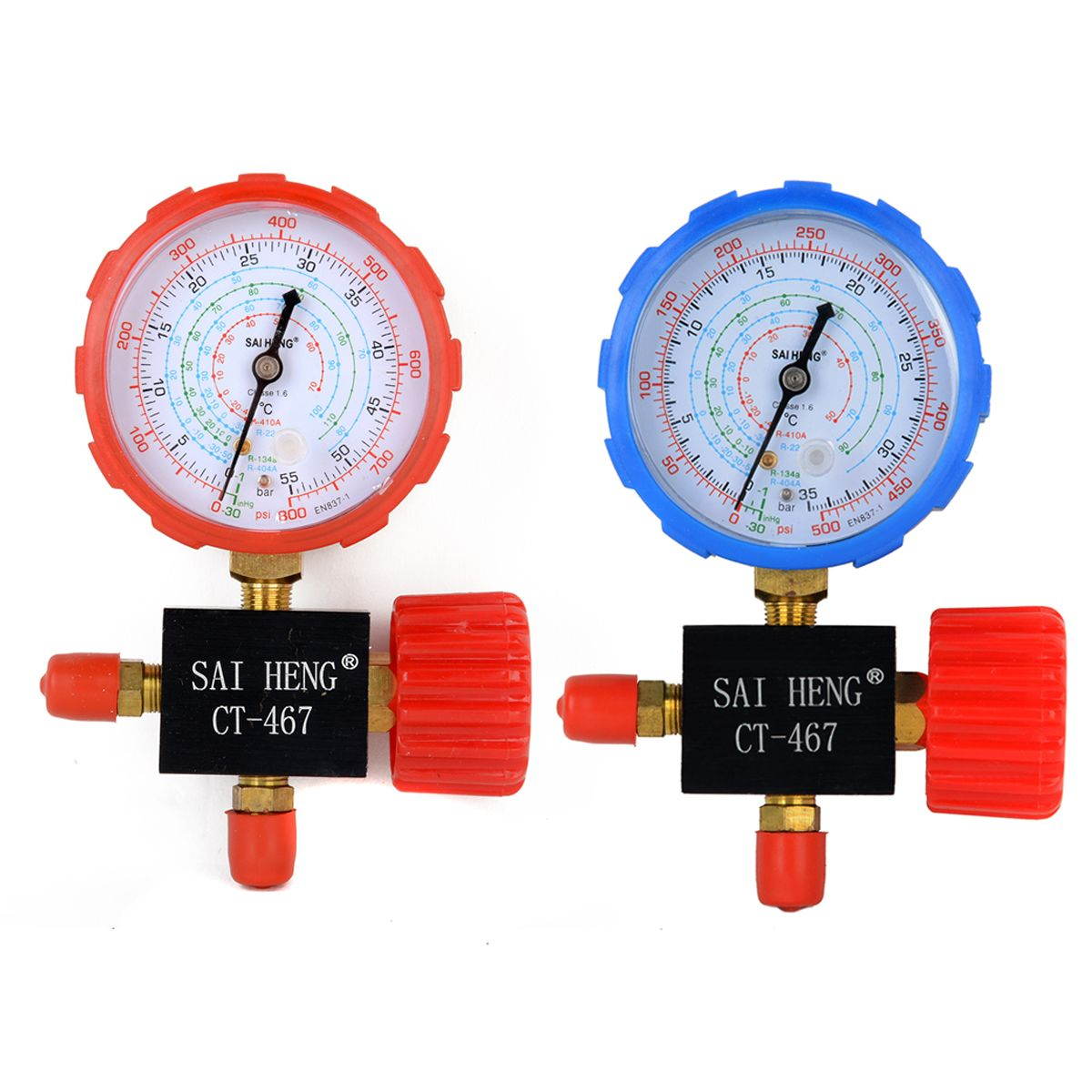 1pc/2pcs Good Air Conditioning Manifold Gauge High/Low Pressure R134a R404a R22 R410a Refrigerant Manometer With Valve Mayitr