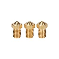 3D Brass Nozzle 0.2 0.25 0.3 0.4 0.5 0.6 0.8 1mm For 3D V5 V6 J-head Hotend 1.75mm 3mm Filament Extruder For 3D Printer Parts