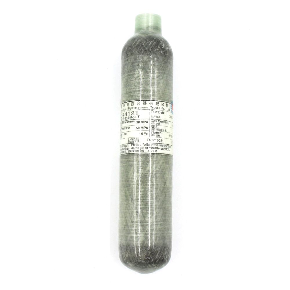 PCP Paintball Airsoft Tank High Pressure Cylinder 0.35L/0.5L Carbon Fiber Wrapped 30MPA 4500 PSI M18*1.5 Thread TKC001