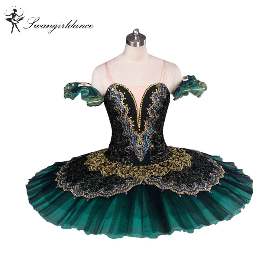 Adult Black Green La Esmeralda Ballet Tutu performance professional classical ballet tutus girls pancake tutu nutcrackerBT8941