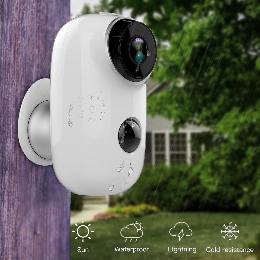 SDETER 100% Wire-Free Rechargeable Battery CCTV Wifi Camera IP Outdoor IP65 Weatherproof Indoor Security Camera PIR Motion Alarm