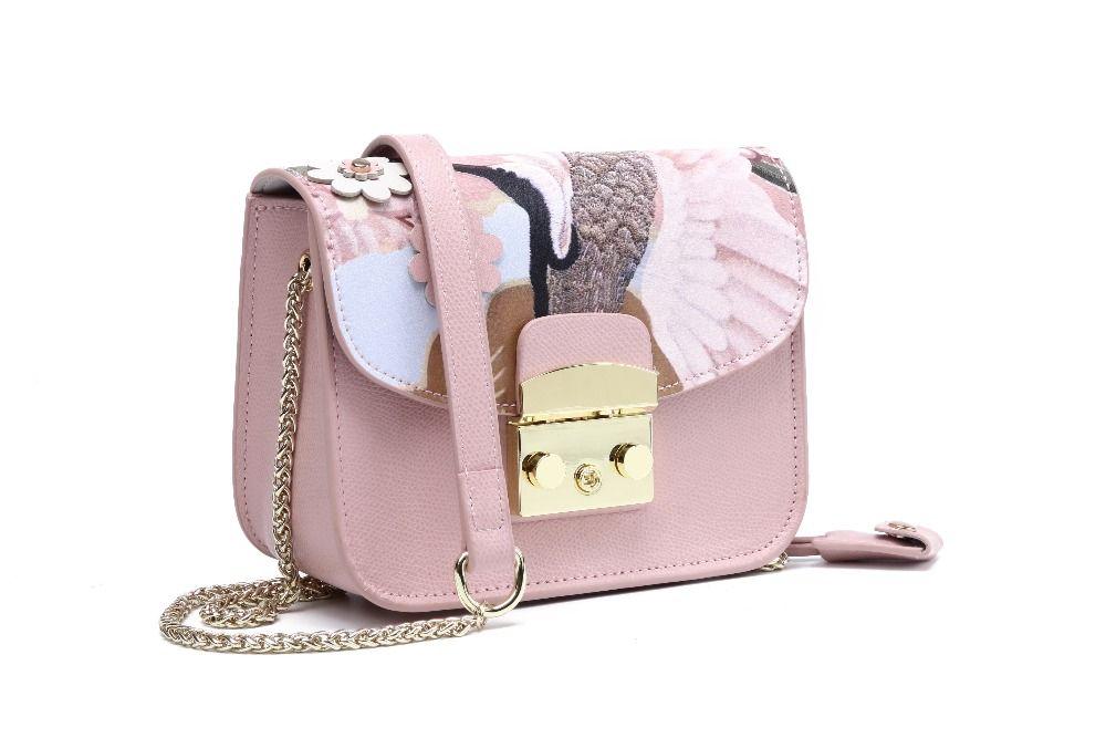 2017 Fashion Women genuine Leather Messenger Bag Mini Flap crossbody Bags Ladies Small clutches female chain bag Girls
