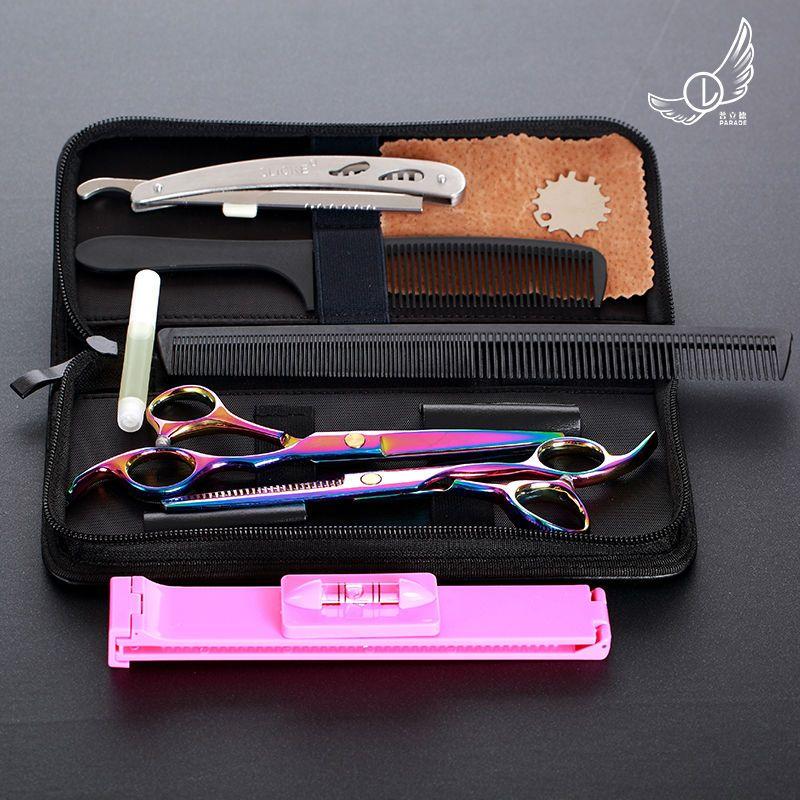 6 pouces De Coupe Éclaircie Styling Outil Cheveux Ciseaux En Acier Inoxydable Salon De Coiffure Cisailles Ciseaux de coiffeur Professionnel