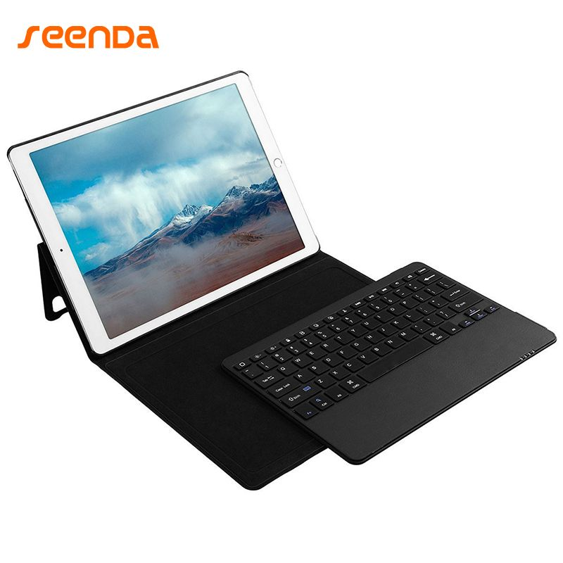 For Apple iPad pro 12.9 Leather Case With Keyboard Tablet Ultra-Thin 3.0 Bluetooth Keyboard Stand Case / Cover + Pencil Holder