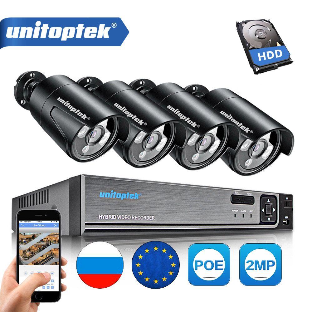 4CH 4MP POE NVR CCTV-System Plug Und Spielen 2MP Wasserdichte Gewehrkugel Ip-kamera Im Freien IR 20 M Sicherheit Überwachung kit P2P XMEye