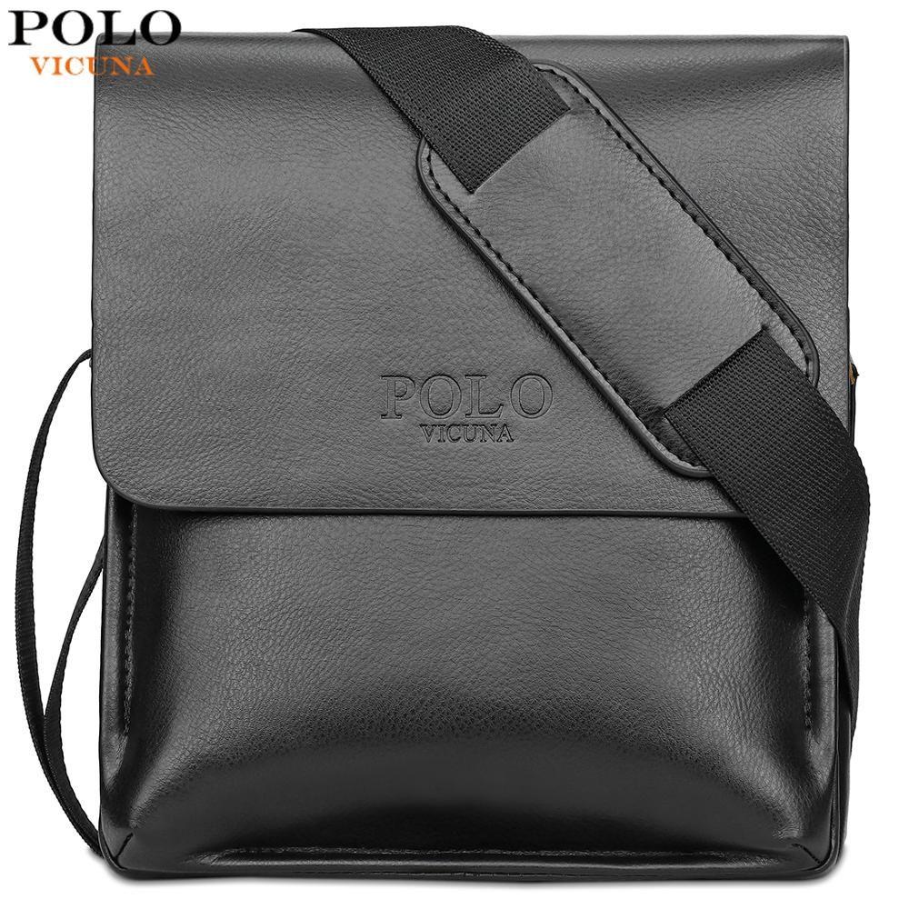 VICUNA POLO célèbre marque en cuir hommes sac décontracté affaires en cuir sac ensemble homme Messenger sac Vintage sac à bandoulière bolsas mâle