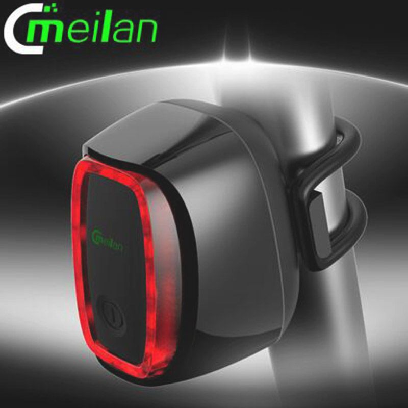 Usb Battery Smart Bicycle Bike Light Tail-lamp Taillight Safety Tail Lights LED Switch Seatpost Flash Model Rushed Meilan X6