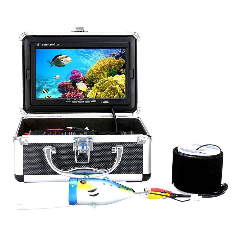 Us-stecker 15 Mt 7 LCD Bunte Unterwasser-fischsucher-kamera 1000TVL HD Angel Monitor Nachtsicht Video Kamera für im meer