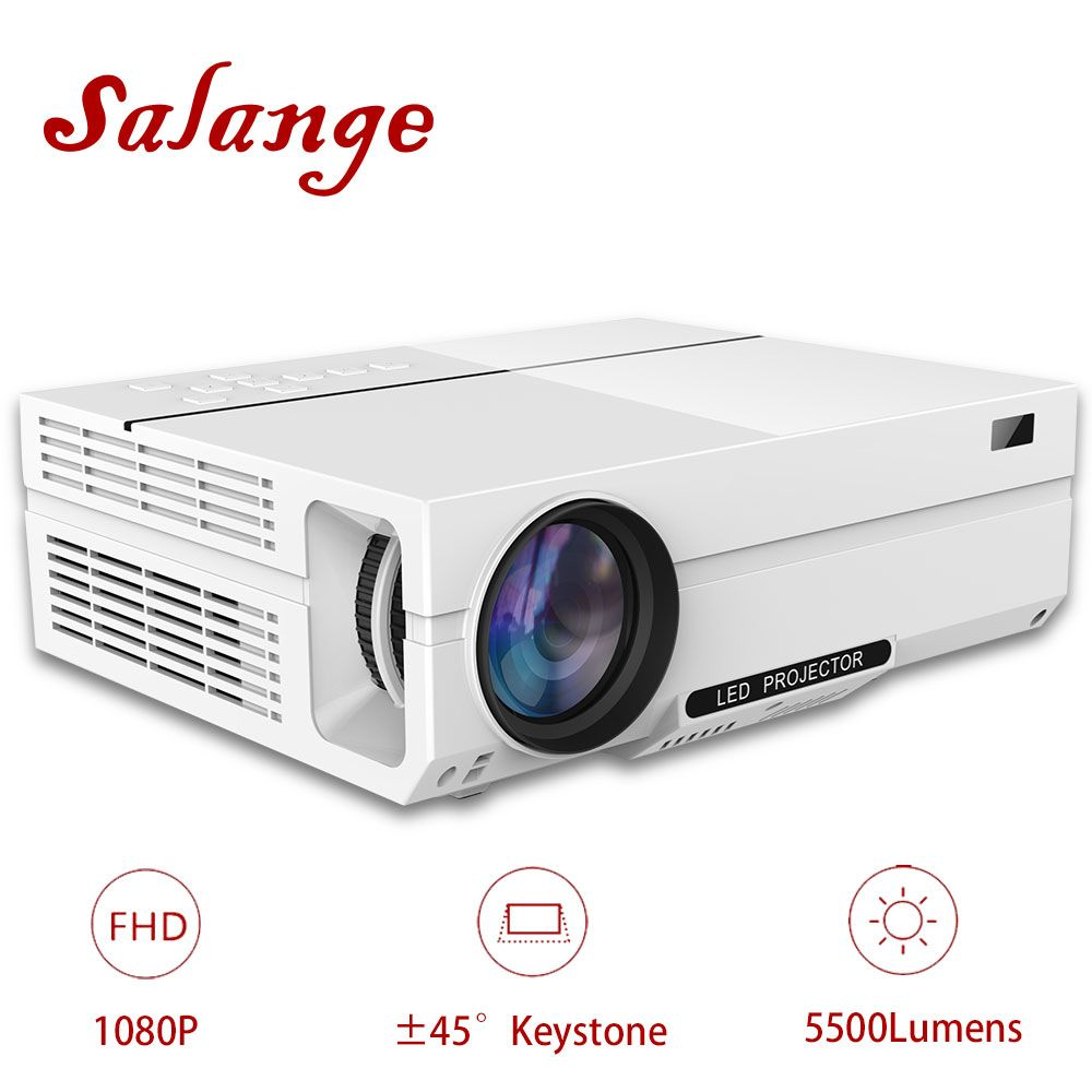 Salange T26K Full HD Projector,5500 Lumens LED Projector,Home Theater,HDMI VGA USB,1080P Movie Beamer Option T26 Proyector