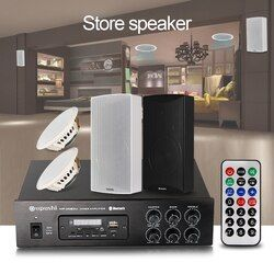 OUPUSHI shop store Background music speakers with Bluetooth power amplifier