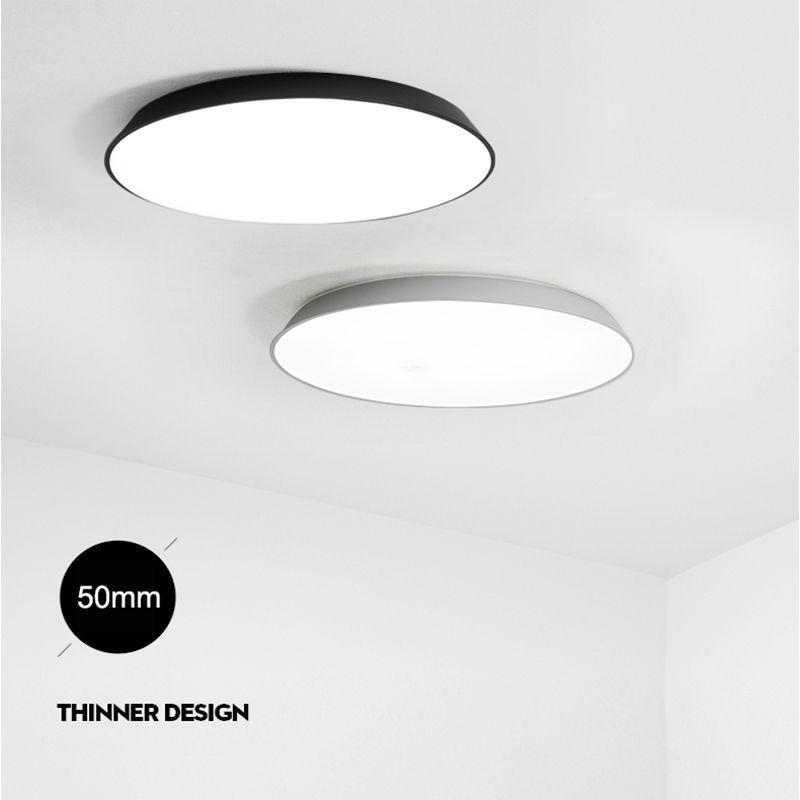 NEO Gleam Ultra-thin Modern Led Ceiling Lights For Living Room Bedroom White/Black AC85-265V Stylish Ceiling Lamp Fixtures