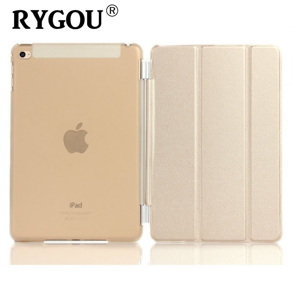 Rygou для Apple iPad mini 4 искусственная кожа Магнитная Передняя Smart Cover + Кристалл Жесткий Чехол В виде ракушки/ТПУ сплошной Цвет мягкий чехол
