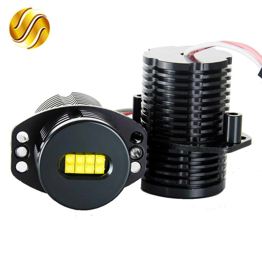 flytop LED Angel Eyes Marker 2*80W 160W for CREE XTE LED Chips XENON White 7000K for BMW E91 E90 2 Pieces(1 Set)