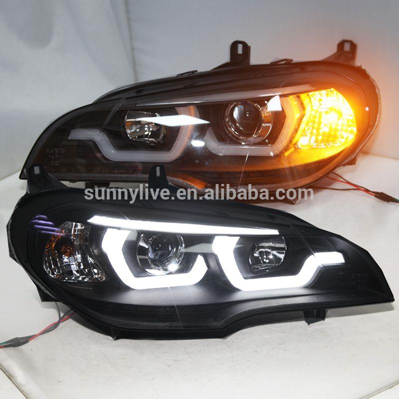 2007-2011 jahr Für BMW X5 E70 LED Kopf Licht Lampen Schwarz Gehäuse JY